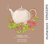 Illustration With Rose Tea In...