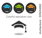 colorful set vector education... | Shutterstock .eps vector #539654083