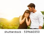 handsome man consoling his wife ... | Shutterstock . vector #539660353