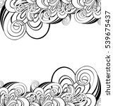 vector black and white abstract ... | Shutterstock .eps vector #539675437