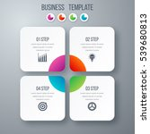 infographics template four... | Shutterstock .eps vector #539680813