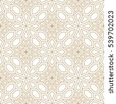 abstract geometric golden deco... | Shutterstock .eps vector #539702023