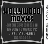 hollywood movies handcrafted...   Shutterstock .eps vector #539710153