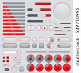 set of interface buttons. red... | Shutterstock .eps vector #539710993
