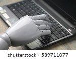artificial intelligence hand... | Shutterstock . vector #539711077