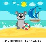 bear on the beach. | Shutterstock . vector #539712763