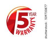 logo 5 years warranty. vector... | Shutterstock .eps vector #539733877