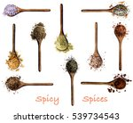 collection of various spices... | Shutterstock . vector #539734543
