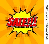 sale tag in comic speech bubble ... | Shutterstock .eps vector #539740357