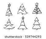 christmas tree   Shutterstock . vector #539744293