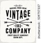 vintage denim print for t shirt ... | Shutterstock .eps vector #539757337