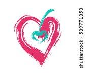 heart red hand drawn textures... | Shutterstock .eps vector #539771353