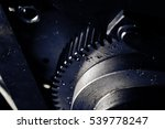 flywheel with oil drops close... | Shutterstock . vector #539778247
