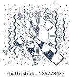 greeting card january 1.... | Shutterstock .eps vector #539778487