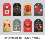 christmas tags set  hand drawn... | Shutterstock .eps vector #539779063