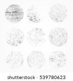 grunge overlay textures.vector... | Shutterstock .eps vector #539780623