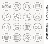 seo thin line icon set | Shutterstock .eps vector #539789257