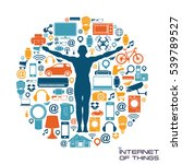 internet of things background | Shutterstock .eps vector #539789527