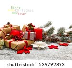 christmas decoration over... | Shutterstock . vector #539792893