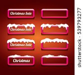 christmas vector pink glossy... | Shutterstock .eps vector #539793277