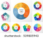 vector circle infographic set.... | Shutterstock .eps vector #539805943