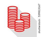 money sign illustration. red... | Shutterstock .eps vector #539813167