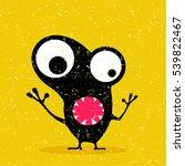 cute black monster with... | Shutterstock .eps vector #539822467