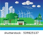 green eco city and sustainable... | Shutterstock .eps vector #539825137