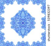 floral paisley motif with... | Shutterstock . vector #539832397