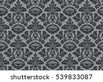 vector seamless floral damask... | Shutterstock . vector #539833087