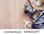 traveler baggage and retro... | Shutterstock . vector #539833297