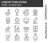 set of thin line flat icons....   Shutterstock .eps vector #539834437