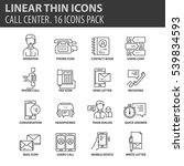 set of thin line flat icons.... | Shutterstock .eps vector #539834593