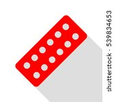 medical pills sign. red icon... | Shutterstock .eps vector #539834653