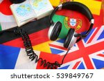 language course headphone and... | Shutterstock . vector #539849767