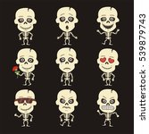 set of isolated skeleton human... | Shutterstock .eps vector #539879743