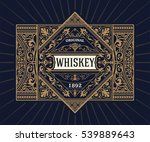 vintage shield for whiskey... | Shutterstock .eps vector #539889643