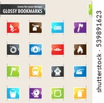 fire brigade icons for your... | Shutterstock .eps vector #539891623
