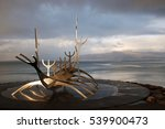 """sun voyager"" sculpture at the... | Shutterstock . vector #539900473"