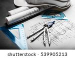 construction planning drawings... | Shutterstock . vector #539905213