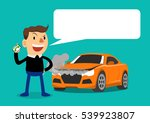 man calling for car service.... | Shutterstock .eps vector #539923807