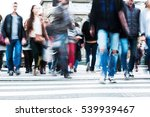 crowds of people in motion blur ... | Shutterstock . vector #539939467