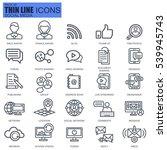 thin line internet marketing... | Shutterstock .eps vector #539945743