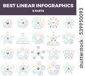 business infographics. linear...