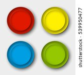 web round button for website or ... | Shutterstock .eps vector #539950477