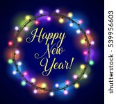 new year greeting card design... | Shutterstock . vector #539956603