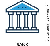 bank vector icon  | Shutterstock .eps vector #539966347