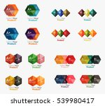 collection of geometric paper... | Shutterstock .eps vector #539980417