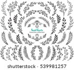 big set of hand drawn vector... | Shutterstock .eps vector #539981257