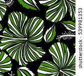 bright hawaiian design with... | Shutterstock . vector #539981353
